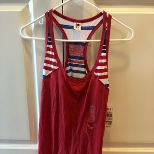 Red and blue Roxy tank top NWT